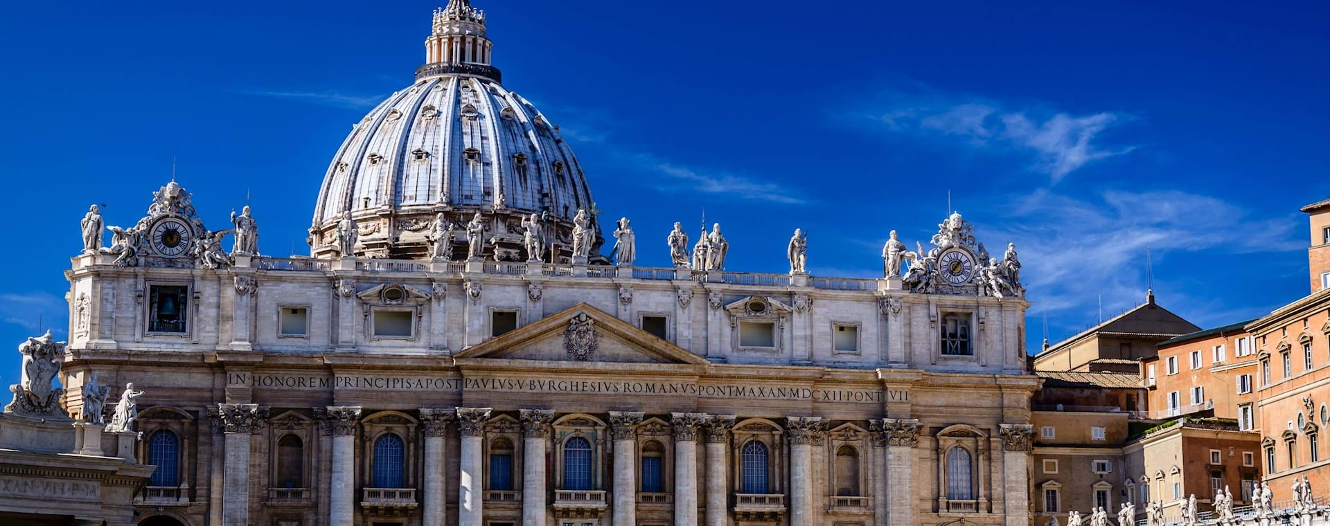 St. Peter's Basilica on a sunny day