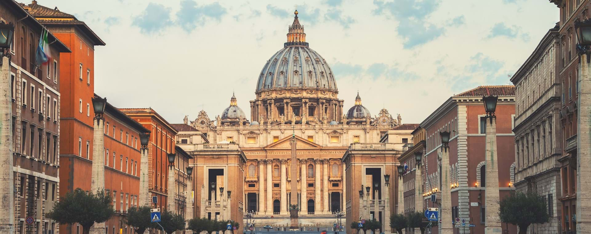 St. Peter's Basilica cloudy weather