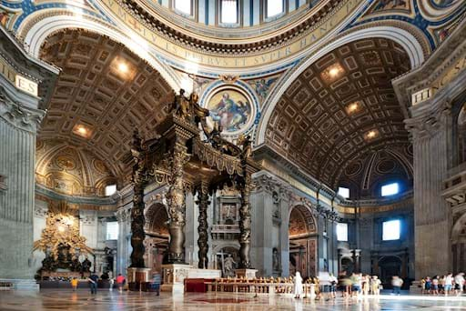 St. Peter's Basilica interior with altar