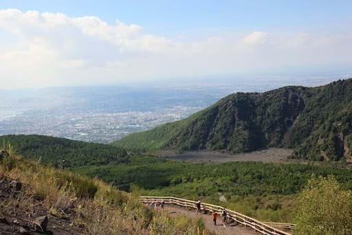 Climbing Vesuvius Panoramic View