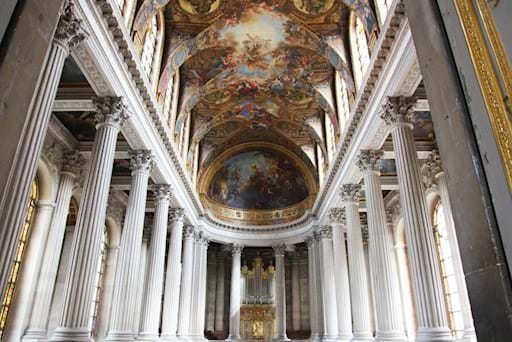 Interior of versailles palace