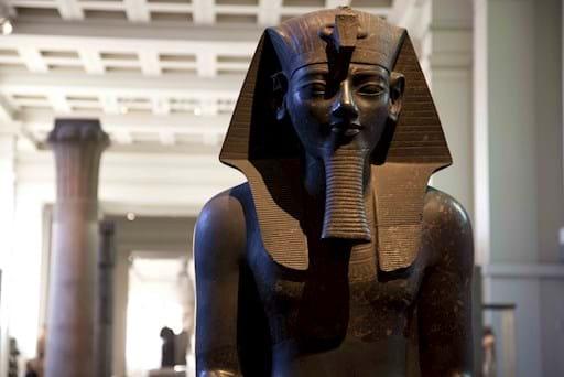Egyptian Sculpture Closeup