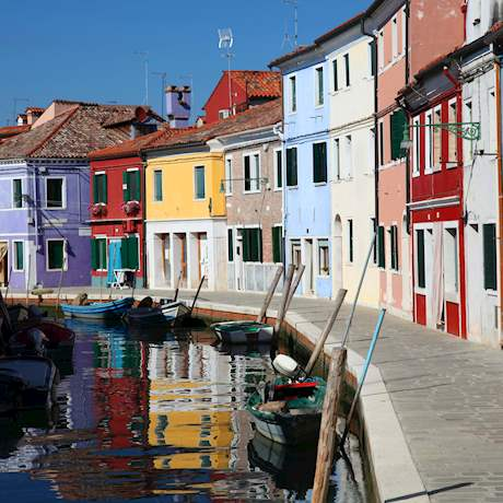 Colourful Burano Houses