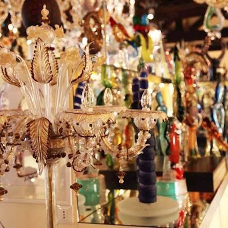 Murano and Burano Glass Lamp