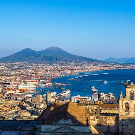 Bay of Naples View in a sunny day