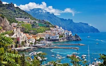 beautiful amalfi coast landscape