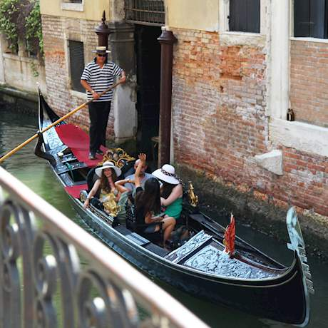 Gondola Ride in Venice with Tourists