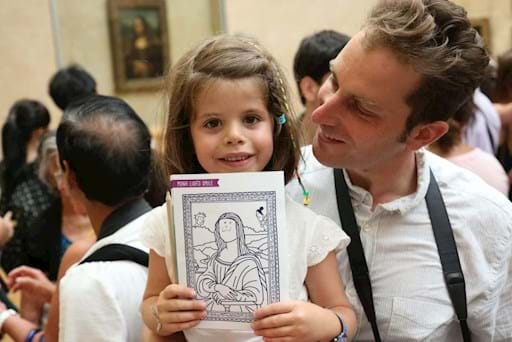 Kid with Mona Lisa