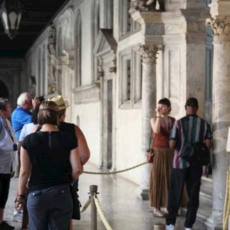 City Wonders group on tour of Doges Palace, Venice