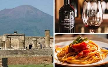 Pompeii Vesuvius from Naples
