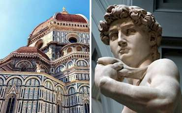 Florence Statue of David collage