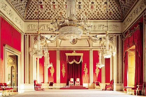 Throne Room of Buckingham Palace, London