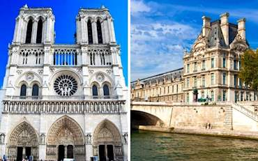 Notre Dame and Louvre