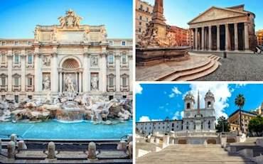 Trevi Fountain Pantheon Spanish Steps