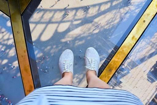 glass floor Eiffel Tower