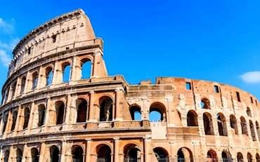 Colosseum in a sunny day in Rome