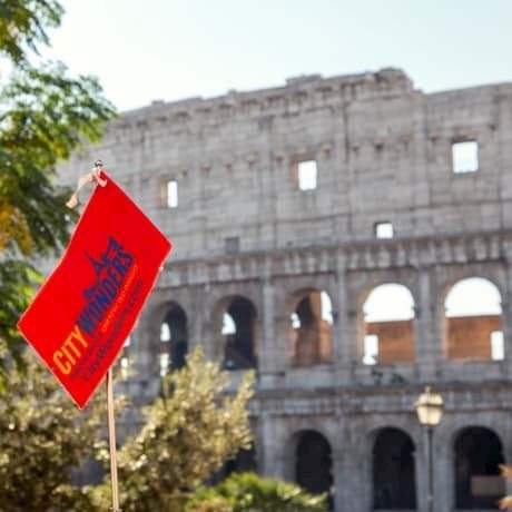Citywonders flag in the Colosseum