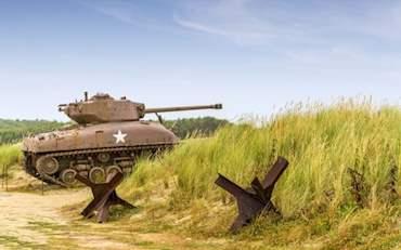 tank on omaha beach