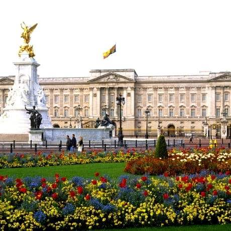Buckingham Palace with Flowers