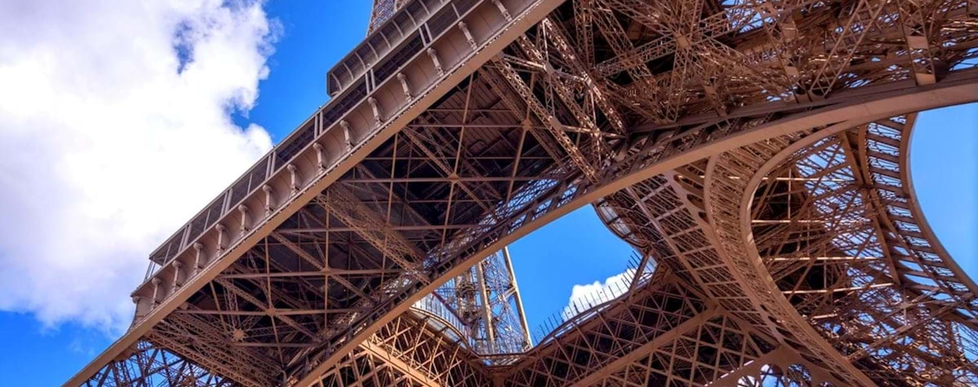 Eiffel Tower blue sky