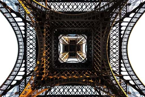 Eiffel Tower view from the ground