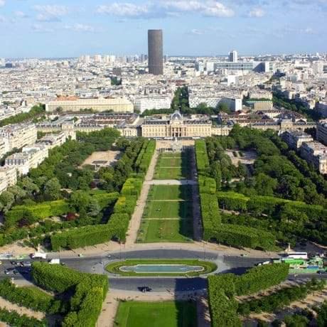 Eiffel Tower panorama view