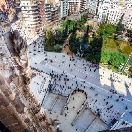 Beautiful view of Barcelona from Sagrada Familia's Tower