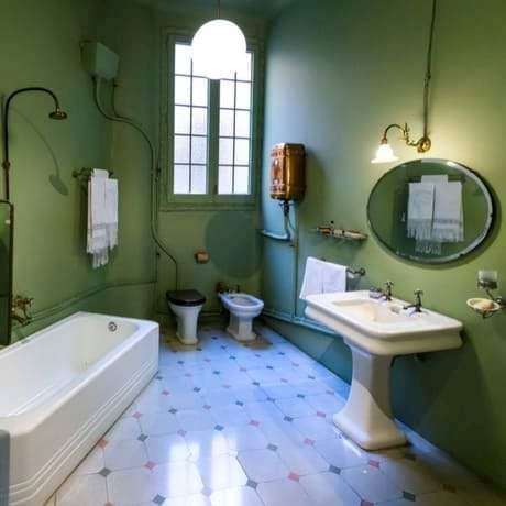 Old style bathroom of Casa Mila in Barcelona