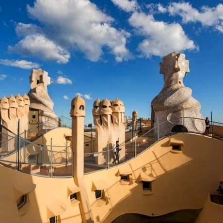 Casa Mila Rooftop of Architect Antoni Gaudi in Barcelona