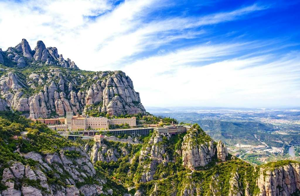beautiful landscape in Montserrat, Catalonia