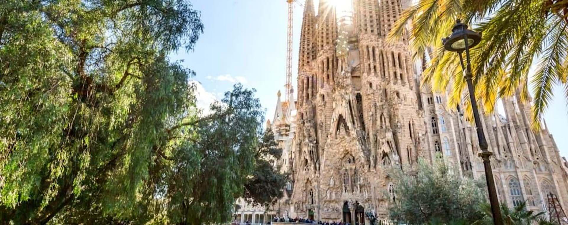 Sagrada Família beautiful facade by Gaudí