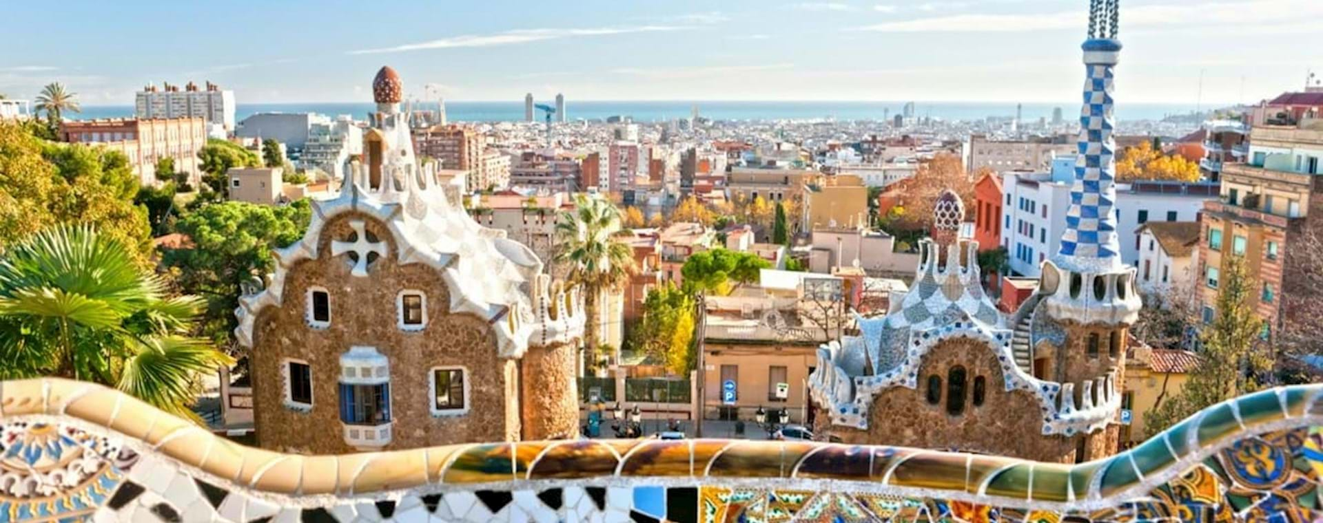 Beautiful view of Barcelona from Parc Guell