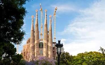 Sagrada Familia beautiful towers in Barcelona
