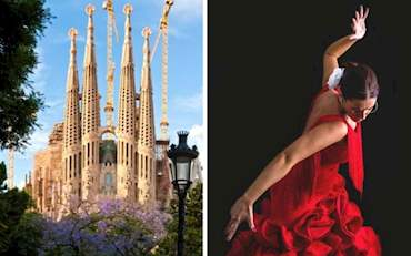 Sagrada Familia and Flamenco show tour in Barcelona