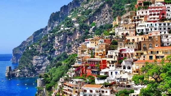 Amalfi coast on a sunny day