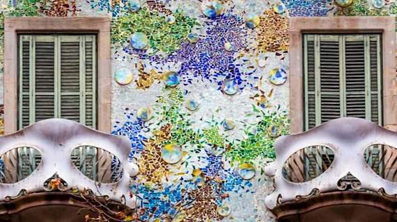 Exterior view of Antoni Gaudi`s Casa Batllo