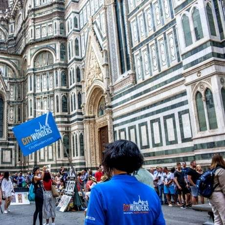 CW guide infront of Florence Cathedral