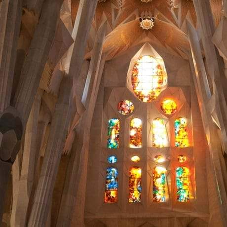 Stunning Interior of La Sagrada Familia in Barcelona