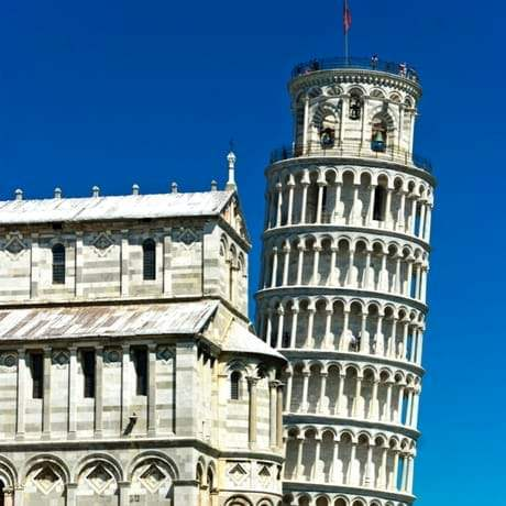 The Leaning Tower of Pisa with the Duomo in the foreground