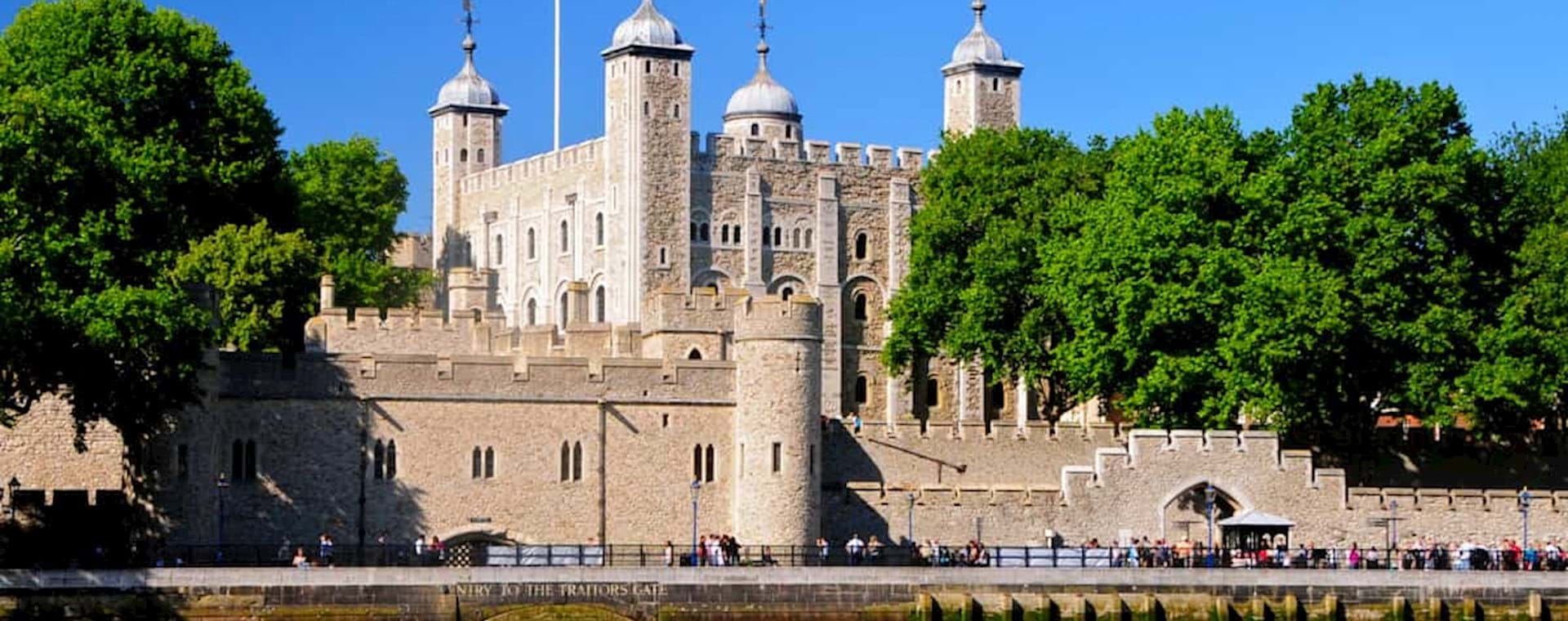 Tower of London view from the famous Thames River