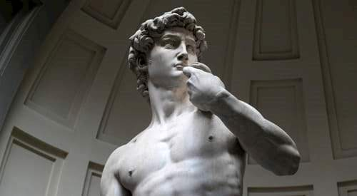 Statue of David by Michelangelo in the Accademia in Florence