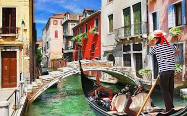 Gondola ride in beautiful Venice