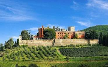 Brolio Castle located on a typical Tuscany Hill in Italy