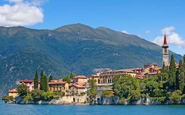 Lake Como Italy on a Sunny Day