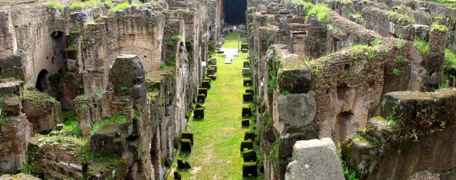 Colosseum Underground Tour with Arena Floor, 2nd Tier & Roman Forum