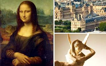 Mona Lisa and Psyche and Cupid at the Louvre Museum in Paris