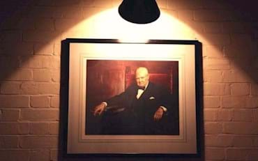 Picture Churchill inside WWII Museum in London