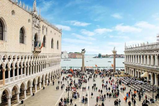 View of St. Mark Square in Venice, Italy