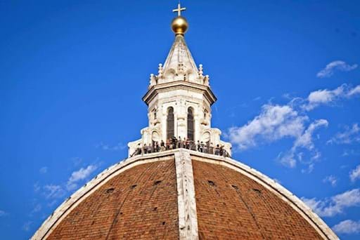 Detailed view of the terrace on top the Florence's Dome