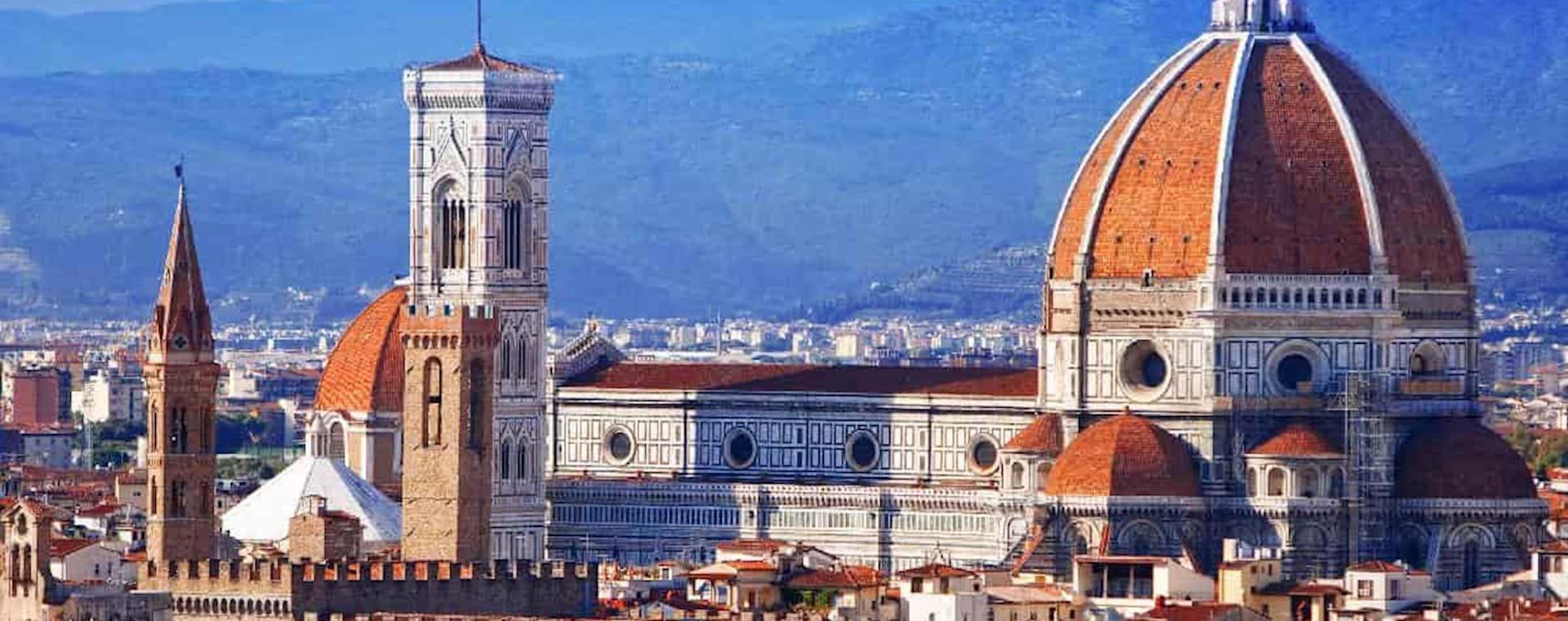 Panoramic view of the Cathedral of Santa Maria del Fiore in Florence